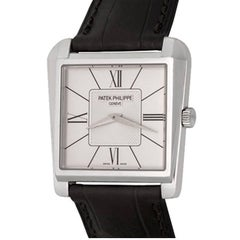Patek Philippe White Gold Gondolo Trapeze Manual Wristwatch