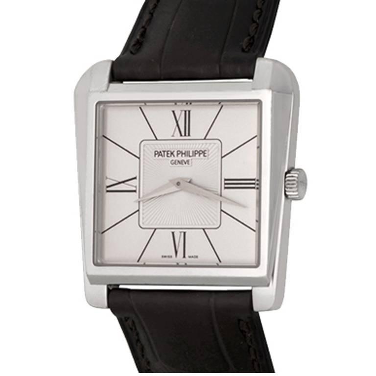 Patek Philippe White Gold Gondolo Trapeze Manual Wristwatch