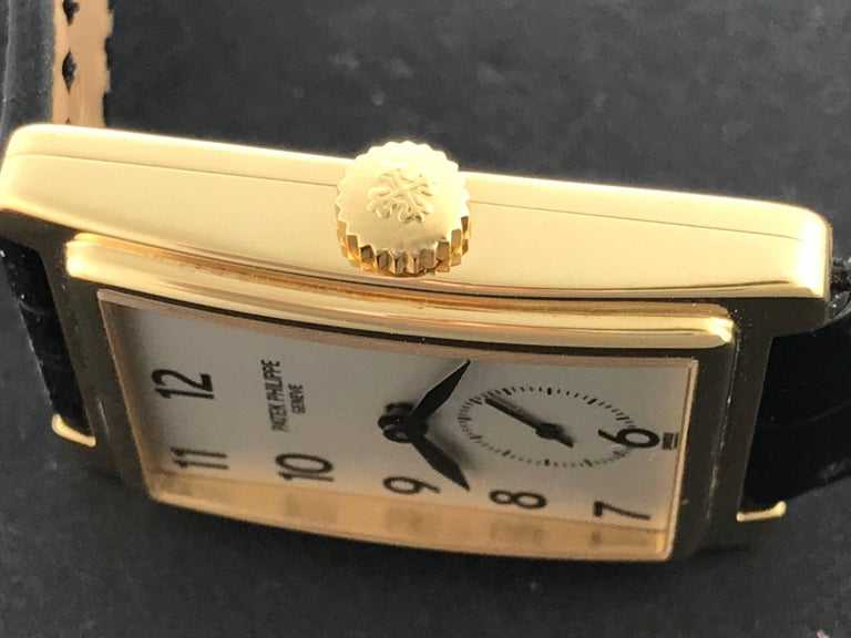 Men's Patek Philippe Yellow Gold Gondolo Manual Wind Wristwatch Ref 5010 For Sale