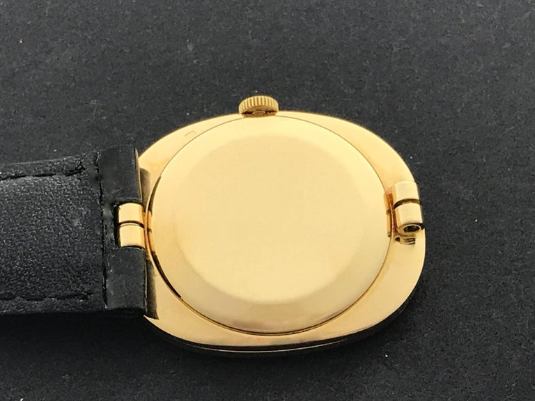 Patek Philippe Yellow Gold Ellipse Manual Wind Wristwatch Ref 3548 For Sale 1