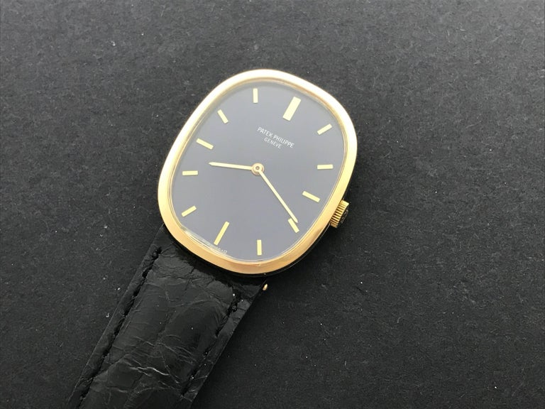 Contemporary Patek Philippe Yellow Gold Ellipse Manual Wind Wristwatch Ref 3548 For Sale