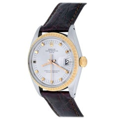 Rolex Yellow Gold Stainless Steel Date Automatic Wristwatch Ref 15053