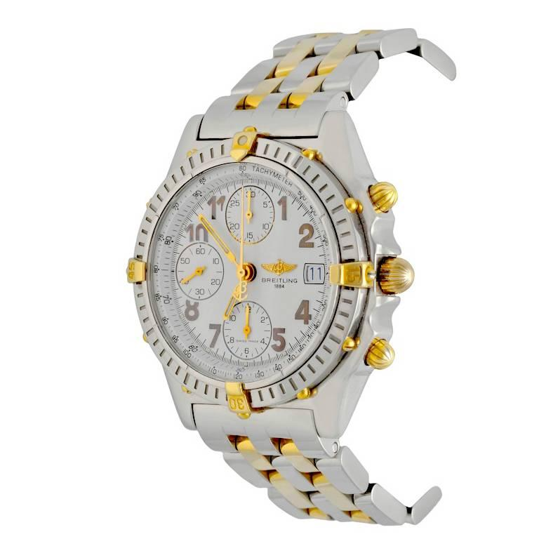 Breitling Yellow Gold Stainless Steel Chronomat Automatic Wristwatch