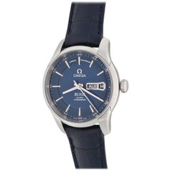 Omega Stainless Steel Deville Hour Vision Annual Calendar Automatic Wristwatch