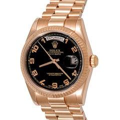 Rolex 18 Karat Rose Gold President Day-Date Oyster Automatic Wristwatch 118235