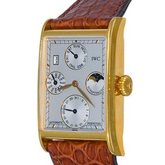 IWC Novecento 18k Perpetual Calendar Moonphase Automatic Mens Wristwatch