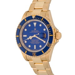 Rolex Yellow Gold Submariner Oyster Perpetual Date Automatic Wristwatch