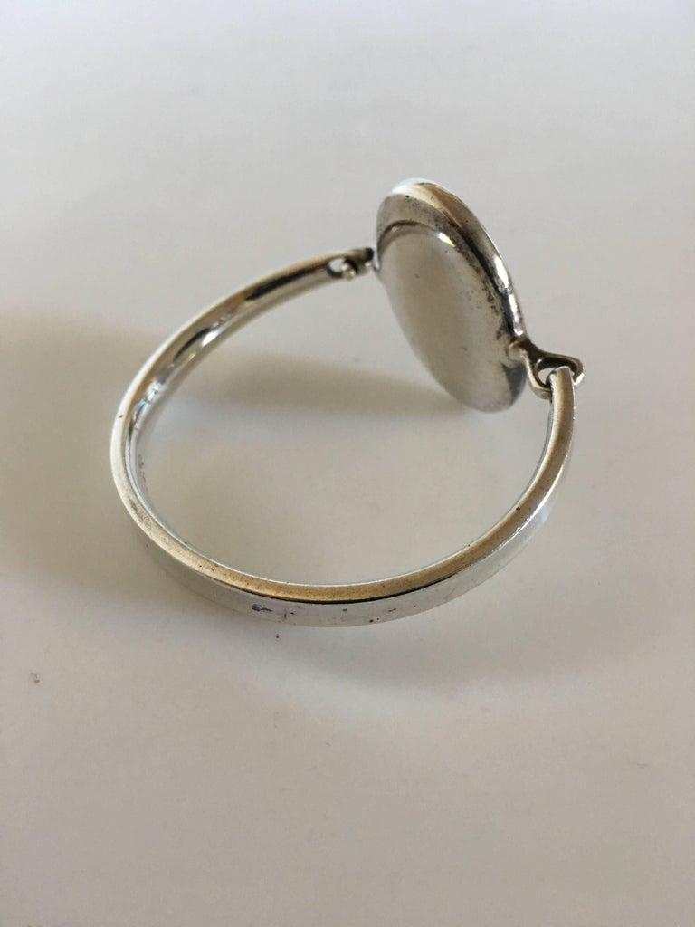 Georg Jensen Sterling Silver Modernist Torun Bracelet No. 230 In New Condition For Sale In Copenhagen, DK