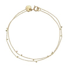 Sweet Pea 18k Yellow Gold Fine Chain Bracelet