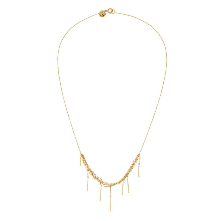 Sweet Pea 18ct Gold Sycamore Layered Chain Necklace