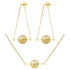 Liv Luttrell South Sea Pearl Kinetic Pearl Earrings and Pendant