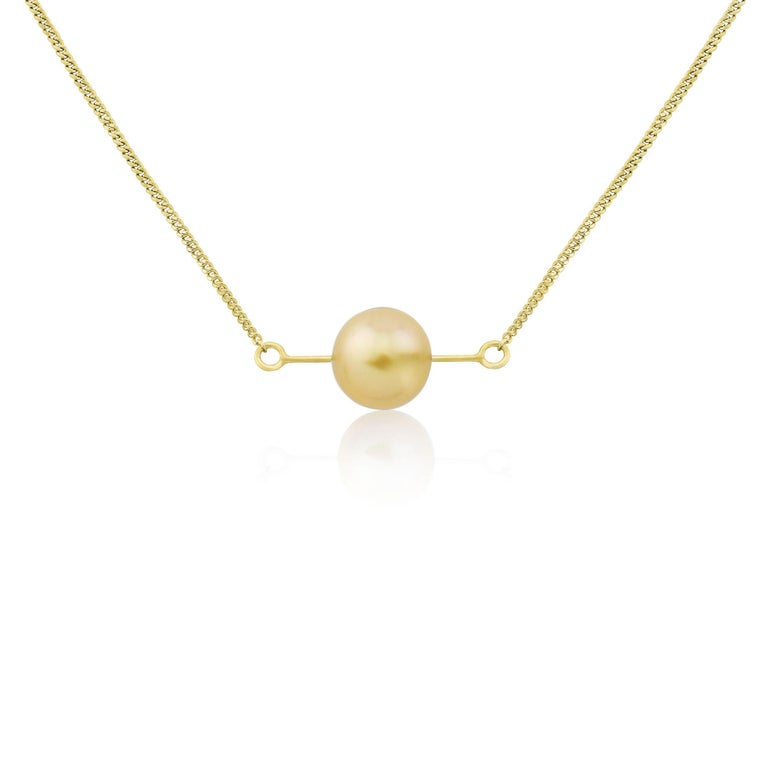 Liv Luttrell Golden South Sea Pearl Kinetic Pendant Necklace In New Condition For Sale In London, GB