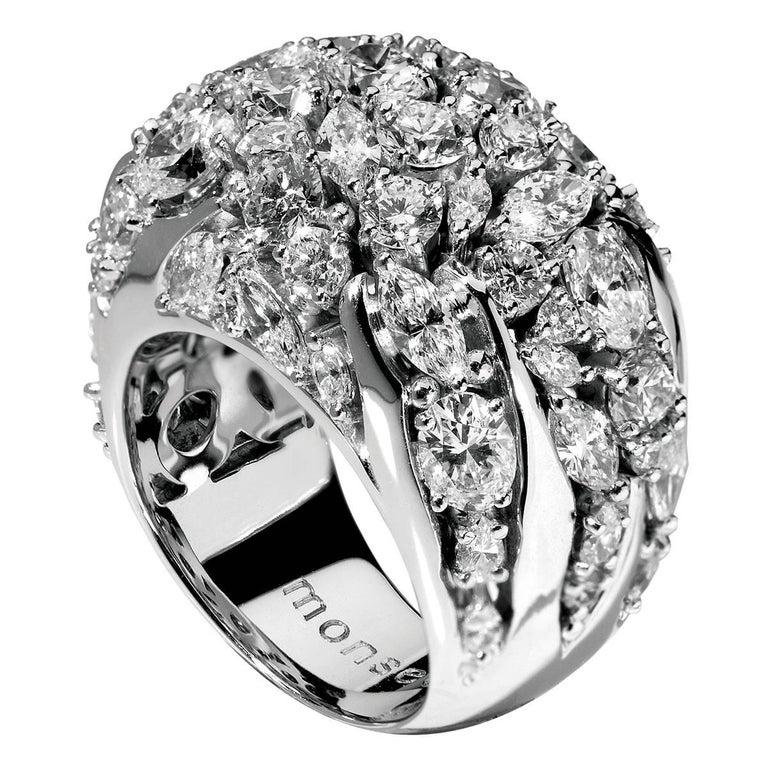 Monseo 'Arbre' Diamond White Gold Ring