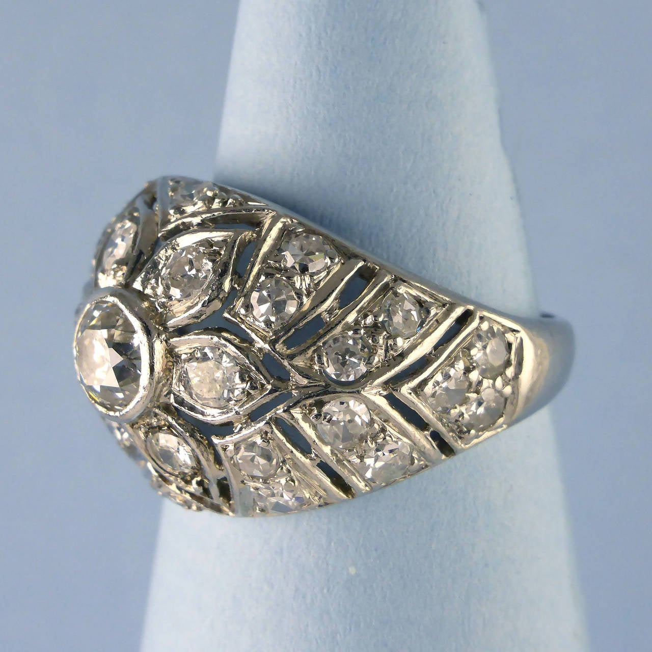 bombe jewelry white gold bombe ring circa 1950 for sale at 1stdibs 3122