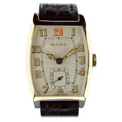 Rolex Yellow Gold Tonneau Wristwatch Ref 578 circa 1930