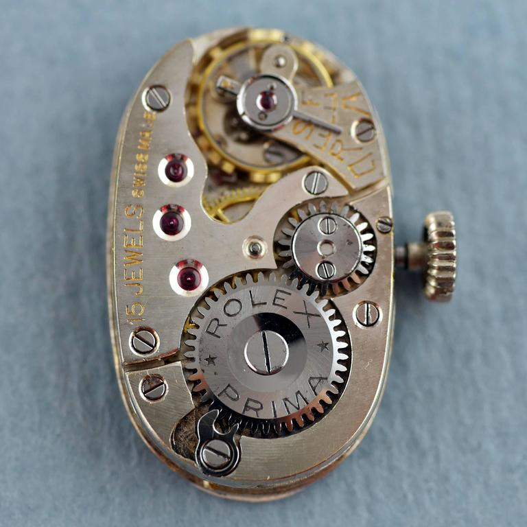 Rolex Ladies White Gold Diamond Wristwatch, 1924 For Sale 5