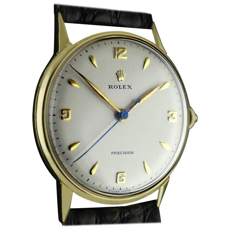 Rolex Yellow Gold Precision Wristwatch, circa 1958