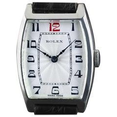 Rolex Sterlingsilber Tonneau Armbanduhr, 1926
