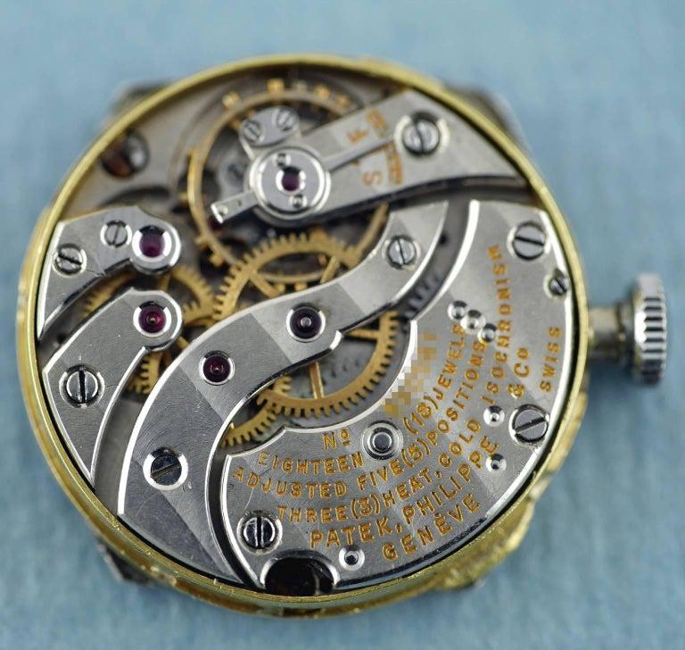 Patek Philippe Platinum Art Deco Tonneau Shaped Manual Wristwatch, 1938 For Sale 5