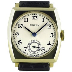 Rolex Yellow Gold Art Deco Tonneau Wristwatch, 1937