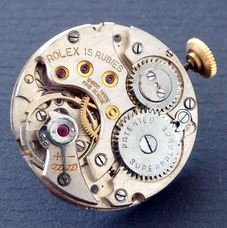 Rolex Yellow Gold Art Deco Tonneau Wristwatch, 1937 For Sale 4
