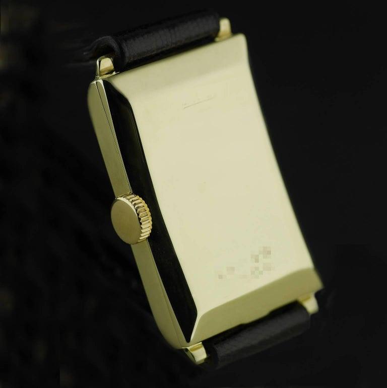 Rolex Yellow Gold Art Deco Railway Mechanical Wristwatch, 1934 For Sale 6