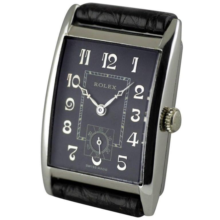 Rolex Sterling Silver Art Deco Wristwatch, 1930