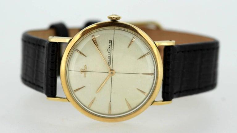 Jaeger-LeCoultre Vintage 18 Karat Gold Manual Winding Wristwatch, circa 1960s For Sale 1