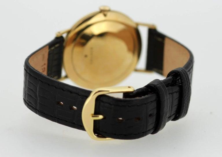 Jaeger-LeCoultre Vintage 18 Karat Gold Manual Winding Wristwatch, circa 1960s For Sale 2