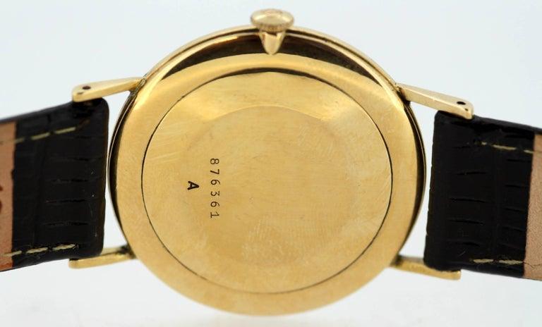 Jaeger-LeCoultre Vintage 18 Karat Gold Manual Winding Wristwatch, circa 1960s For Sale 4