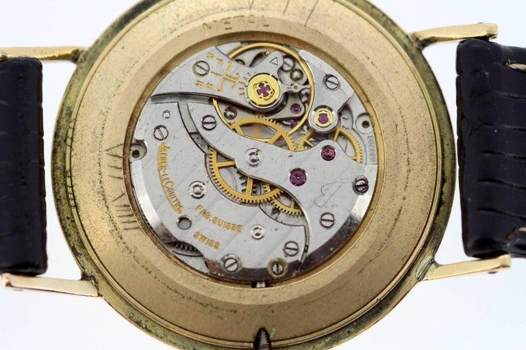 Jaeger-LeCoultre Vintage 18 Karat Gold Manual Winding Wristwatch, circa 1960s For Sale 6
