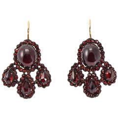 Antique Garnet Earrings At 1stdibs