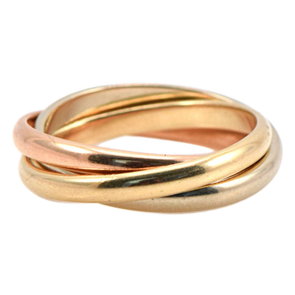 Tiffany and co men 39 s tricolor gold rolling band ring at for Tiffany mens wedding ring