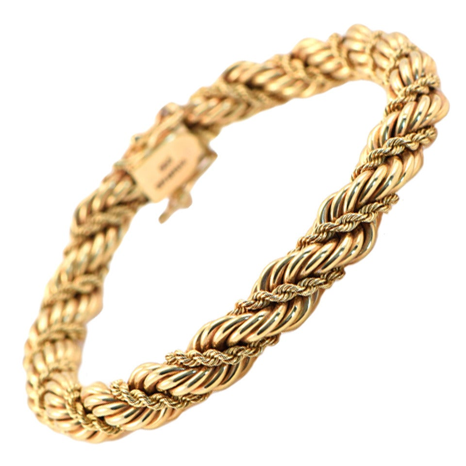 1950s Tiffany Gold Rope Bracelet At 1stdibs