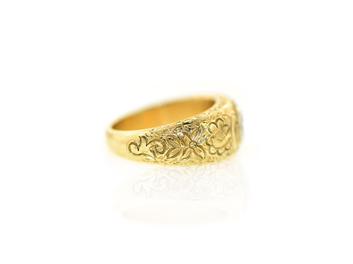 engraved gold ring image 3