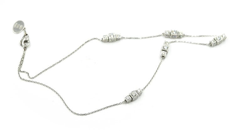 """Michael B"" Diamond Sugar Cube Station Necklace In Excellent Condition For Sale In Scottsdale, AZ"