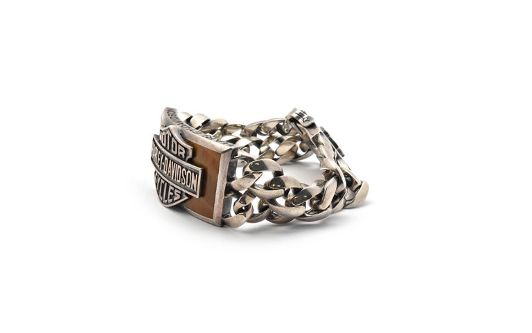 Harley Davidson Thierry Martino Sterling Silver Bracelet  In Excellent Condition For Sale In Scottsdale, AZ