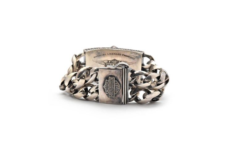 Men's  Harley Davidson Thierry Martino Sterling Silver Bracelet  For Sale