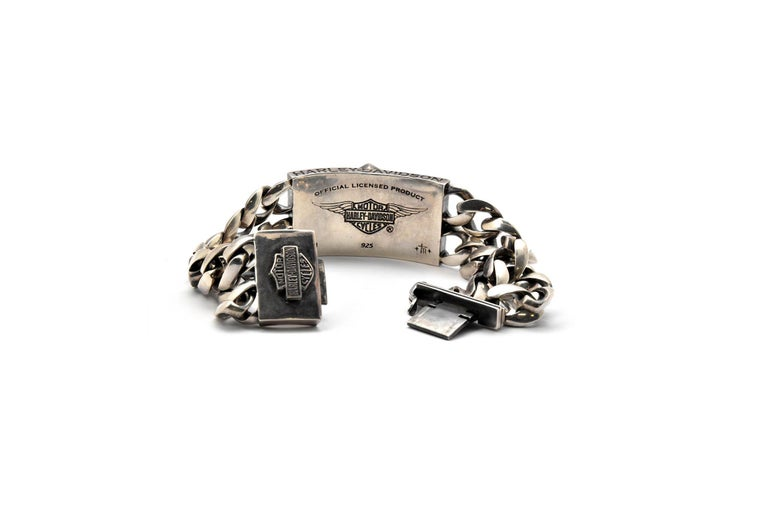 Harley Davidson Thierry Martino Sterling Silver Bracelet  For Sale 1