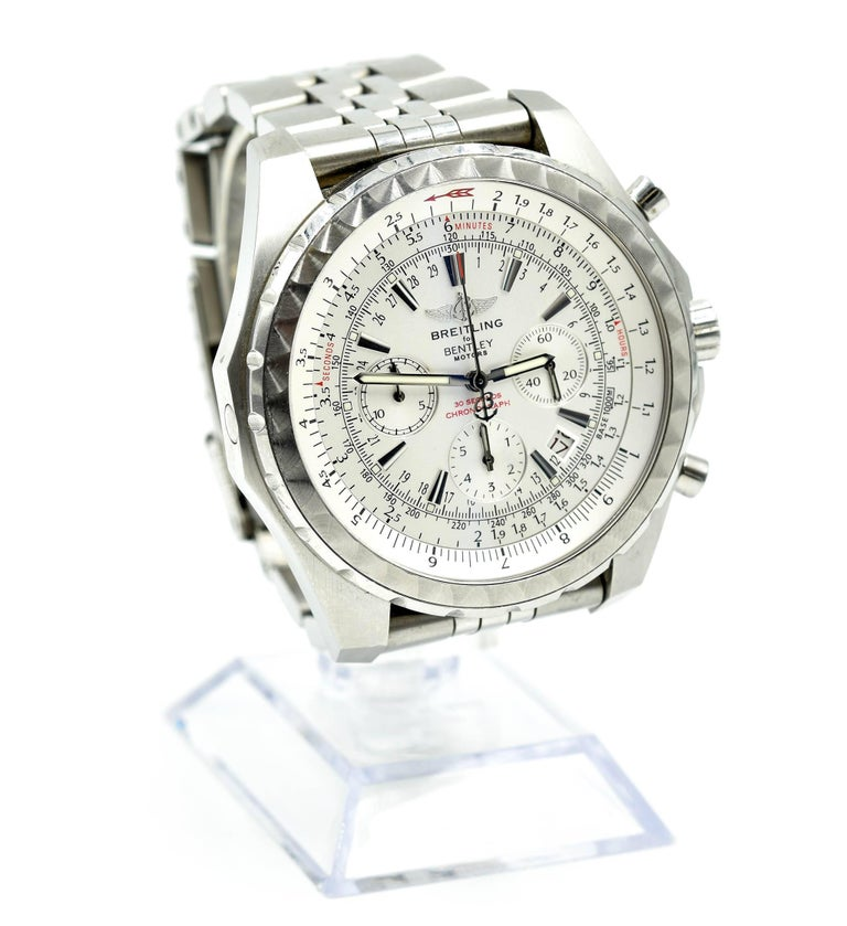 Breitling Stainless Steel Bentley Automatic Wristwatch Ref: Breitling For Bentley Stainless Steel Chronograph