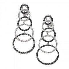 Fine Sterling Illusion Earrings
