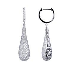 19 Karat Gold Diamond Hoop Earrings