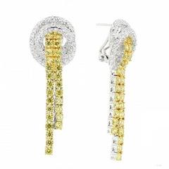950 Siledium Silver Rhodium Palladium White Yellow Stones Hoop Earrings