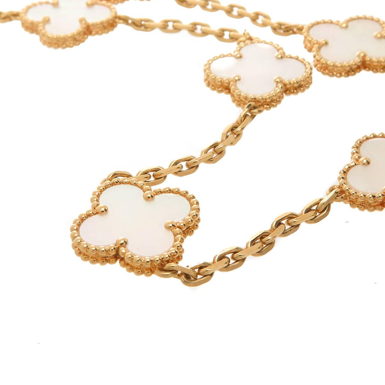 Van Cleef & Arpels Alhambra Ten Motif Mother of Pearl Necklace 2