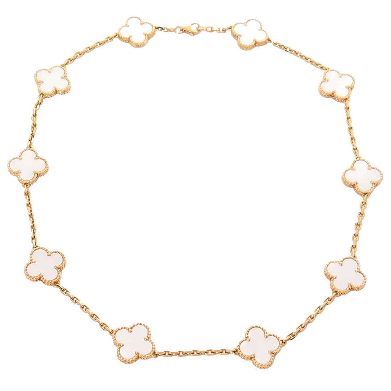 Van Cleef & Arpels Alhambra Ten Motif Mother of Pearl Necklace 1