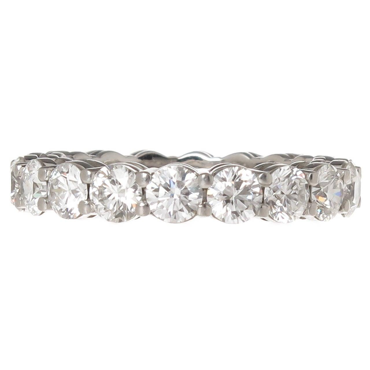 Tiffany And Company Diamond Platinum Eternity Ring At 1stdibs