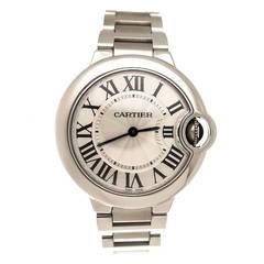Cartier Stainless Steel Ballon Bleu Quartz Wristwatch circa 2013