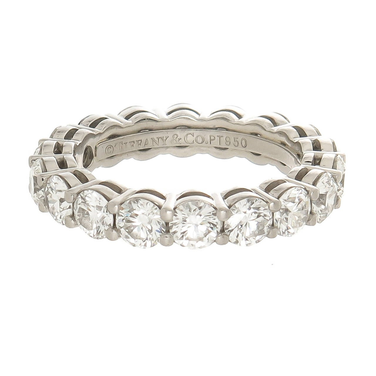 tiffany and company diamond platinum eternity ring at 1stdibs. Black Bedroom Furniture Sets. Home Design Ideas