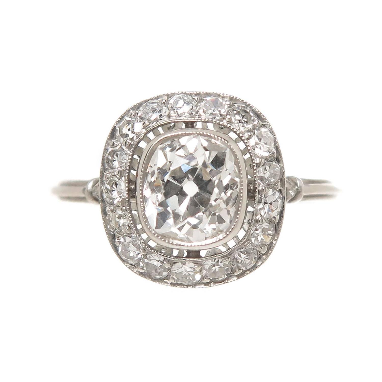 Cushion Cut 1 16 Carat Diamond Platinum Engagement Ring at 1stdibs