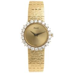 Piaget Lady's Yellow Gold Diamond Wristwatch